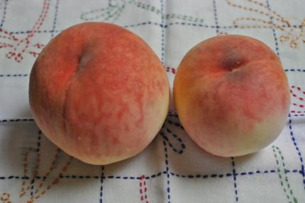 大きさの違う桃