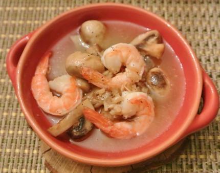 shrimpアヒージョ