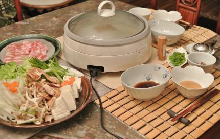 お鍋で夕飯