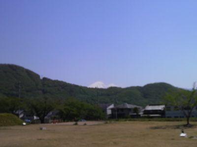 躑躅ヶ崎から富士山