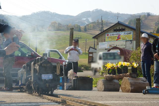 C56 129 飯山・戸狩にてただいま列車
