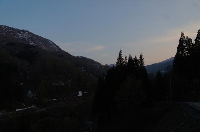 GW秋山郷の夕暮れ
