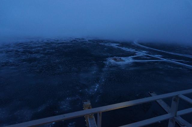 凍った然別湖