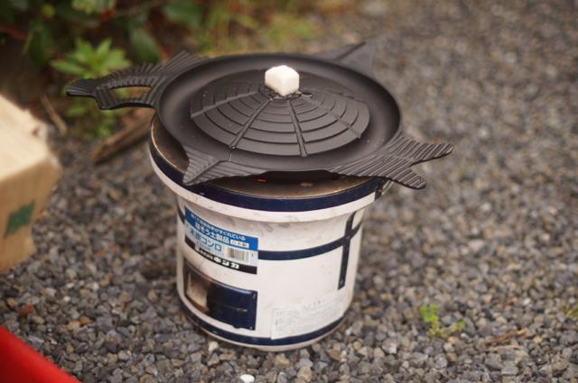 牛脂を置かれたサッポロビール園特製ジンギスカン鍋