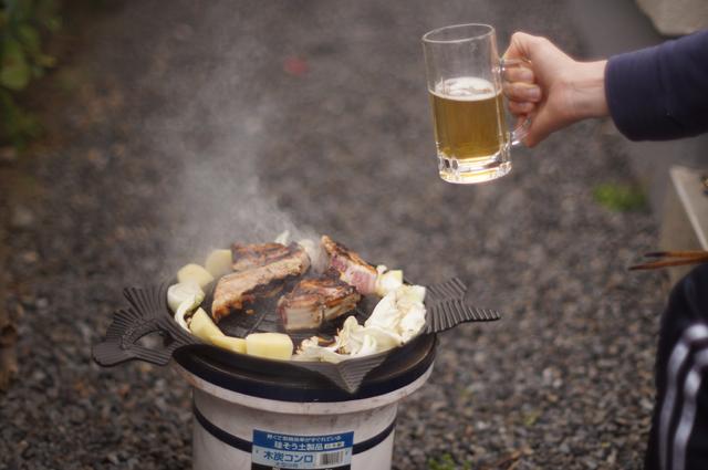 サッポロビール園特製ジンギスカン鍋 焼き初め