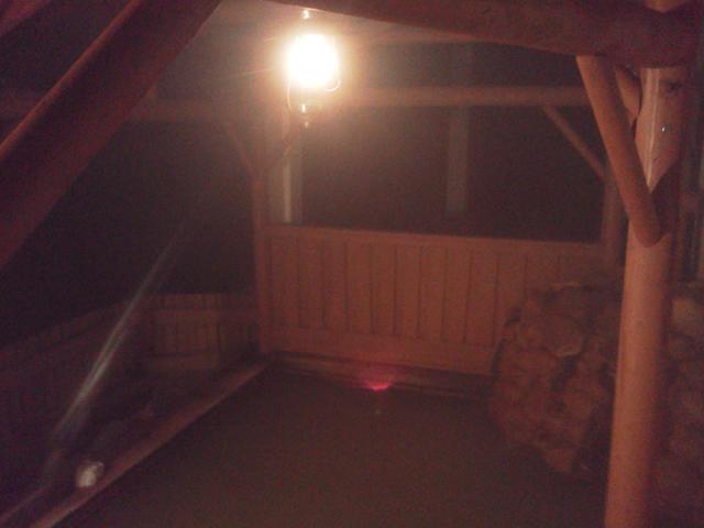 深夜の然別湖温泉ホテル風水の露天風呂