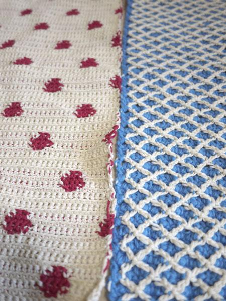 春のイベント用の編み地