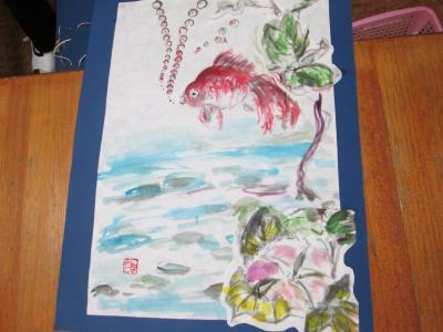 金魚絵画6
