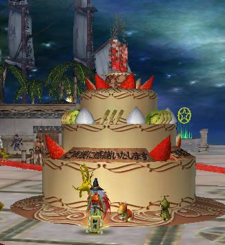 9周年記念ケーキ