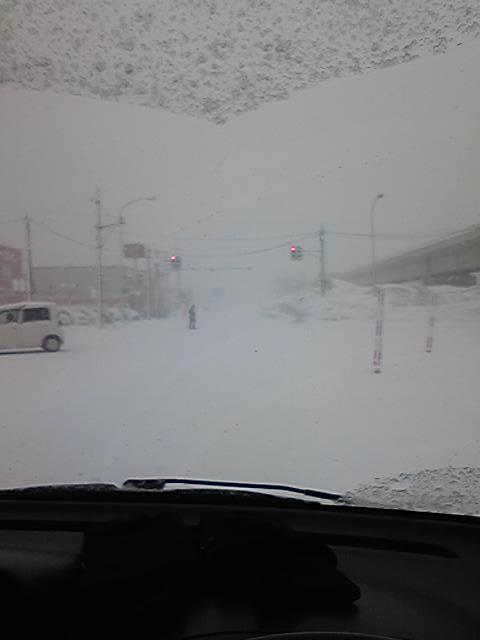 雪道視界ナシ