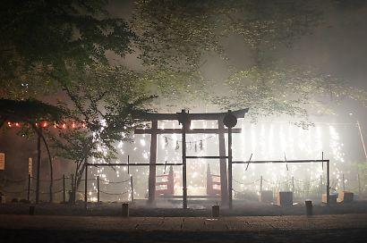 小梳神社の花火-4