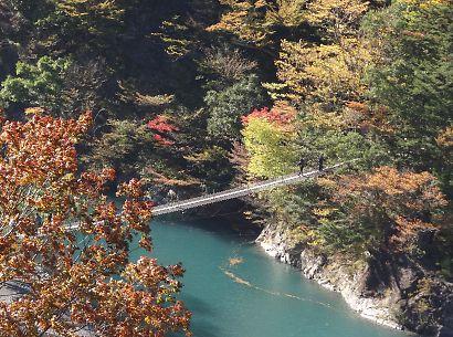 紅葉の寸又渓谷-3