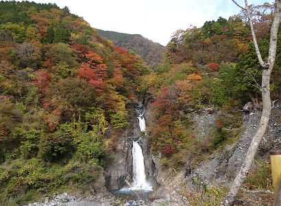 梅ケ島紅葉赤水の滝-4