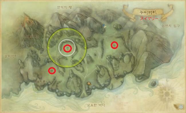 旧大陸MAP(ヌイマリー) 縮小