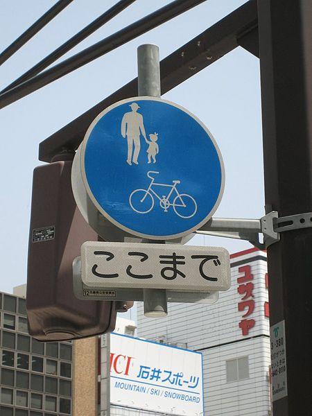 450px-PedestrianBikePathJapan.jpg