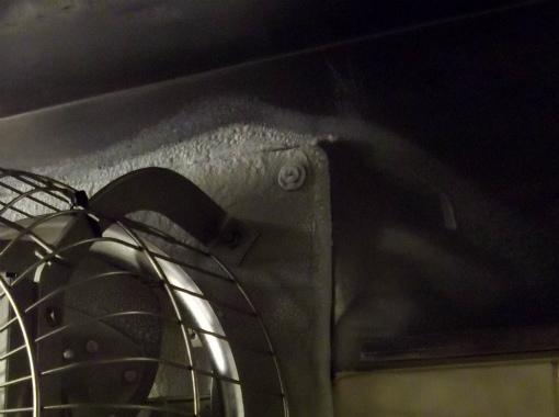 s-395-2換気扇 氷漬け