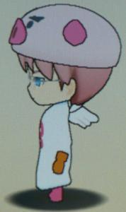 天使のブッヒー衣装(側面)