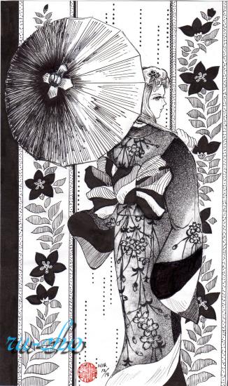 モノクロ女3