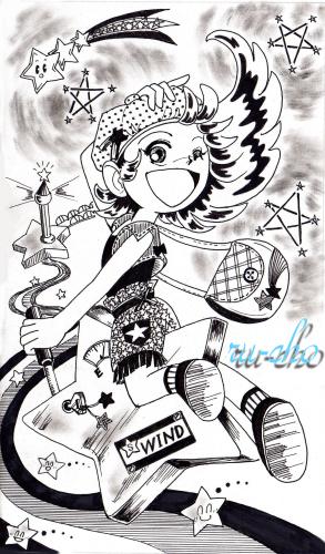 モノクロ女2