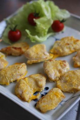 塩麴鶏のチーズピカタ