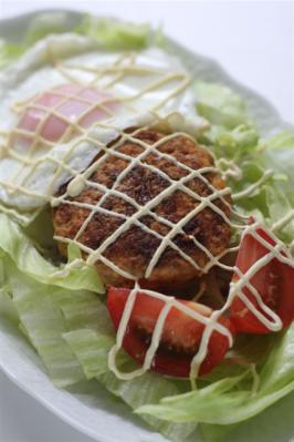 韓流ハンバーグのロコモコ丼