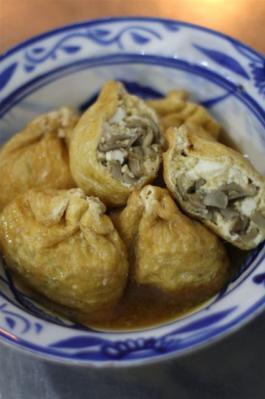 舞茸と豆腐の袋煮