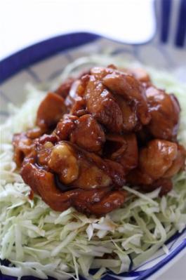 鶏肉のコクうま黒酢煮