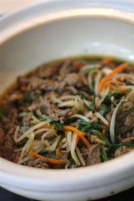 野菜たっぷり土鍋のプルコギ風