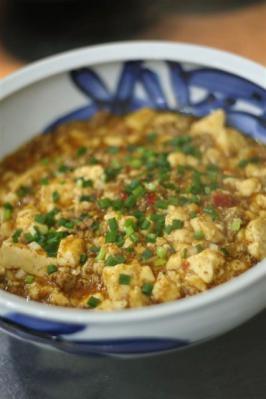 くずし豆腐の四川風マーボー