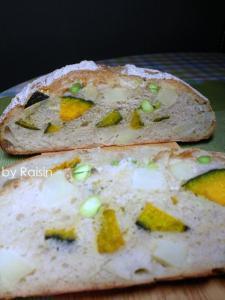 20110827お野菜カンパーニュbyレーズン酵母0