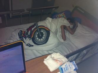 深夜の病院にて