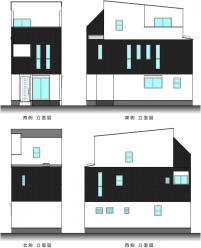 阪南町2丁目(立面図)