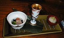 楽市弥生会席1食前酒と前菜