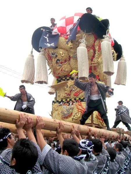 四国中央市 土居秋祭り 関川河川敷 小林太鼓台
