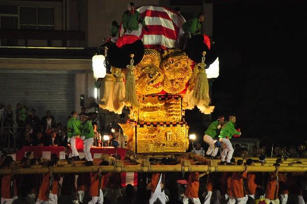 四国中央市 土居秋祭り JAうま土居中央支店 上天満太鼓台