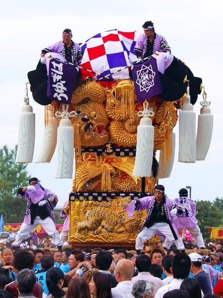 新居浜太鼓祭り 中萩地区 萩生西太鼓台 山根グラウンド