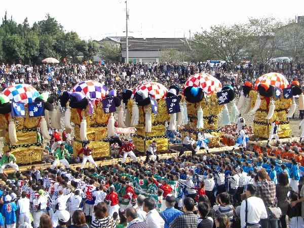 新居浜太鼓祭り 大生院 渦井川原かきくらべ