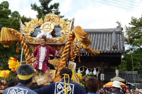 2012年高砂神社秋祭り 例大祭 鍵町屋台 宮入