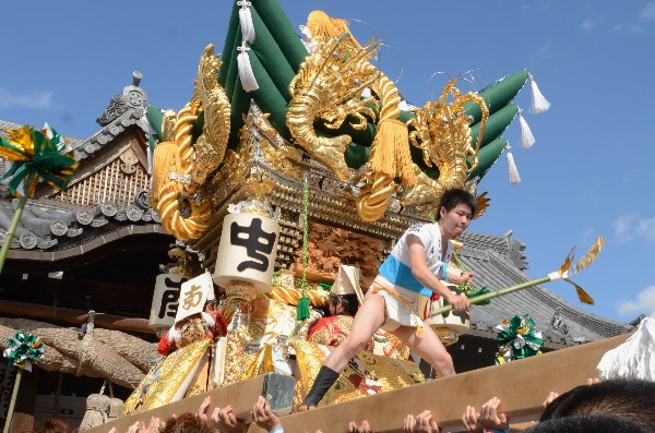 兵庫県高砂市  曽根天満宮の秋祭り 屋台宮入  南之町
