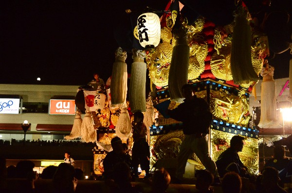 新居浜太鼓祭り2012年 川西地区 イオンモール夜太鼓