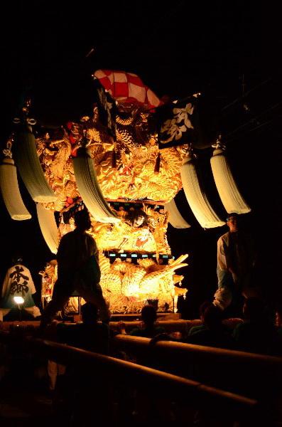 西条市祭り  飯積神社祭礼 飯積神社前宮出し