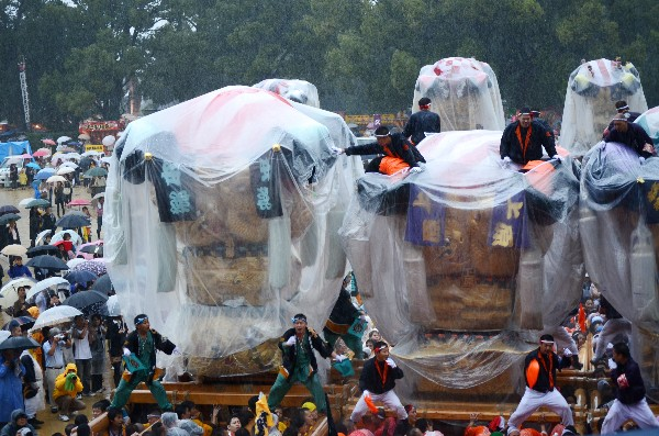 新居浜太鼓祭り2012年 山根グラウンド 本郷 上原