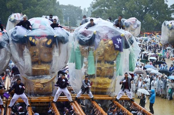 新居浜太鼓祭り2012年 山根グラウンド 萩生東 土橋
