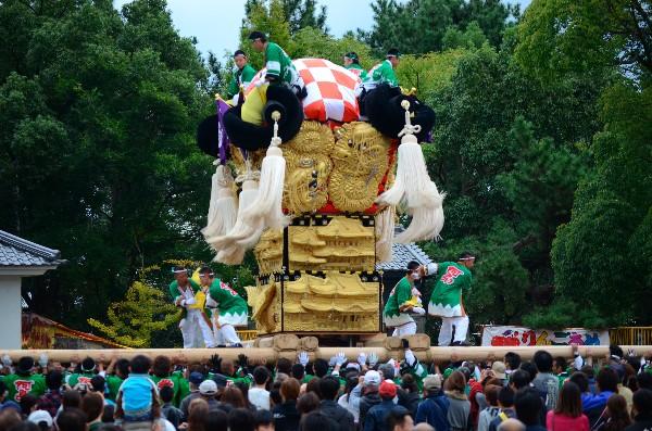 新居浜太鼓祭り 川東地区 八旗神社宮入 阿島太鼓台