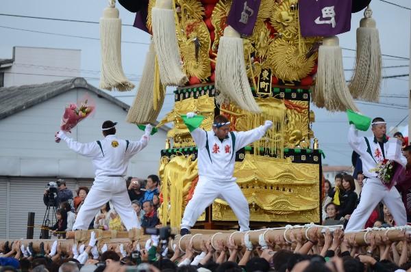 2012年新居浜太鼓祭り 大江浜 中須賀海岸 東町太鼓台