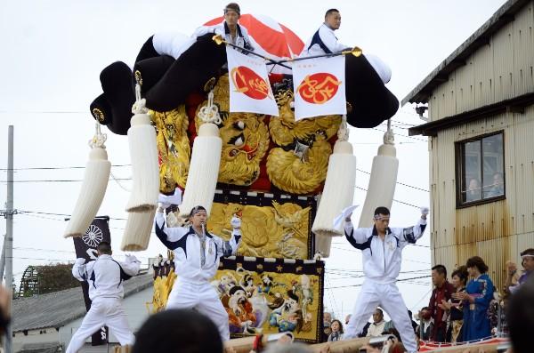 平成24年新居浜太鼓祭り 川西地区 中須賀海岸 口屋太鼓台