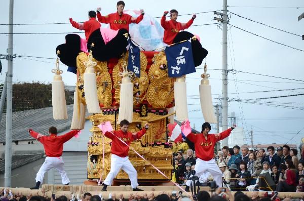 平成24年新居浜太鼓祭り 川西地区 中須賀海岸 久保田太鼓台