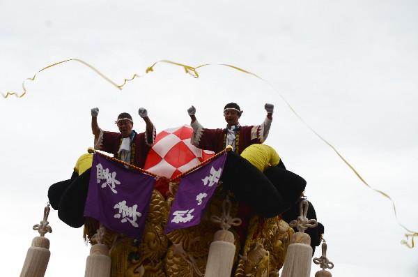 平成24年新居浜太鼓祭り 八旗神社かきくらべ 川東西部地区 澤津太鼓台