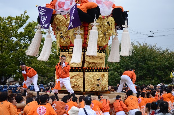 平成24年新居浜太鼓祭り 大江浜 川西地区 新須賀太鼓台