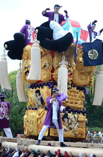 新居浜太鼓祭り2012年 八旗神社 白浜太鼓台